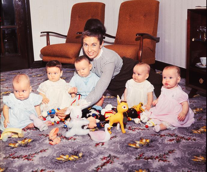 We take a look back at the Lawson quins, New Zealand's first quintuplets, in their early years.