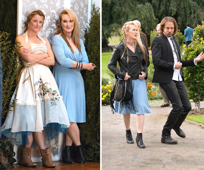 Mamie and her mum Meryl (left) tear up the screen in new film 'Ricki and the Flash' with Australian-born rocker Rick Springfield (right).