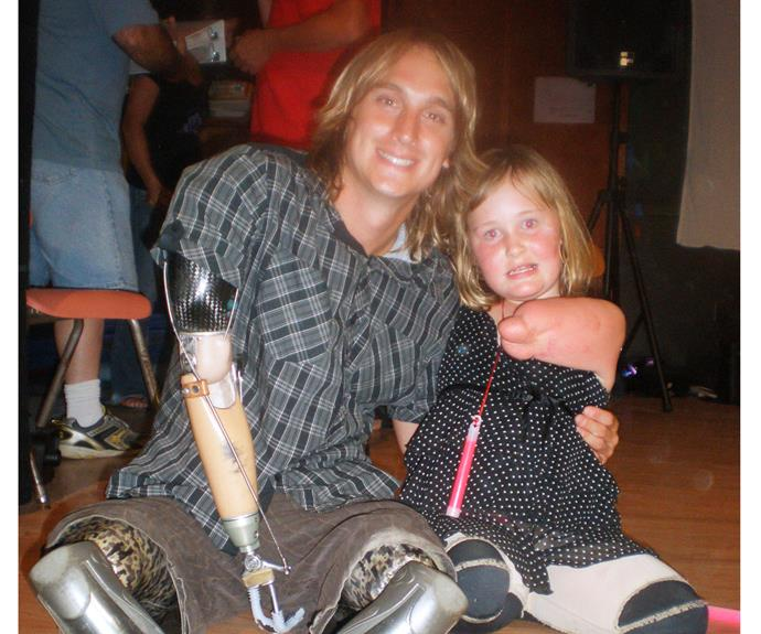 Charlotte with her inspirational mentor and friend Cameron Clapp.