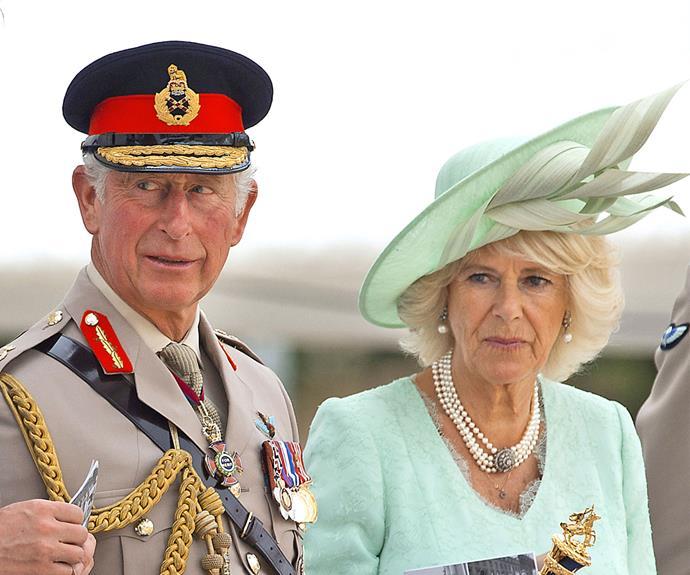 Prince Charles and Camilla at the VJ Day Drumhead Service.