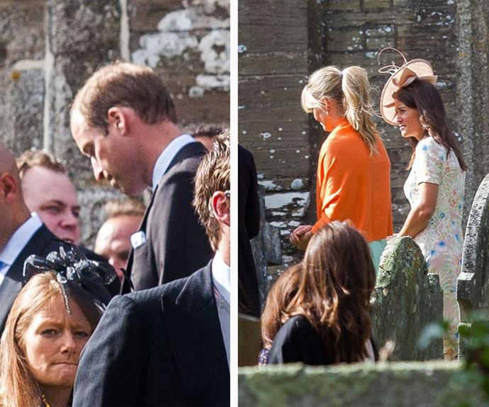 Family ties: Pippa recently stood in for Kate as William's guest at the wedding of his friend Bear Maclean.