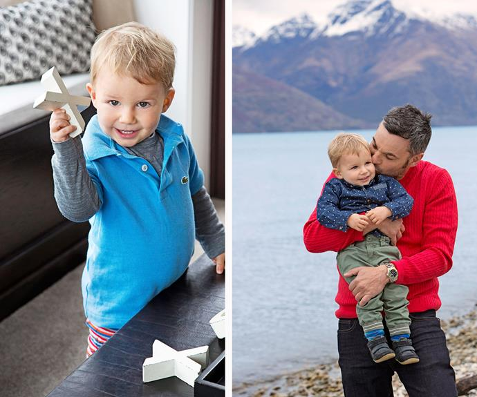X is for kisses: Tracker, like his dad, knows how to win Kiwi hearts.