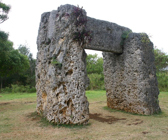 Tonga's Stonehenge - no entrance fee to see the sights here