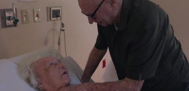 This is true love! A 92-year-old serenades his dying wife of 73 years.