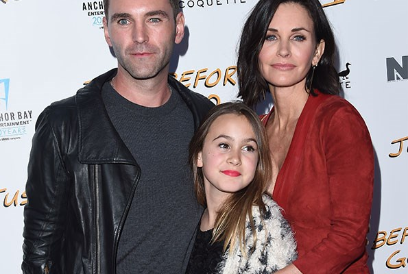 Courteney, pictured with her daughter Coco and fiance Johnny, announced their engagement in June last year.
