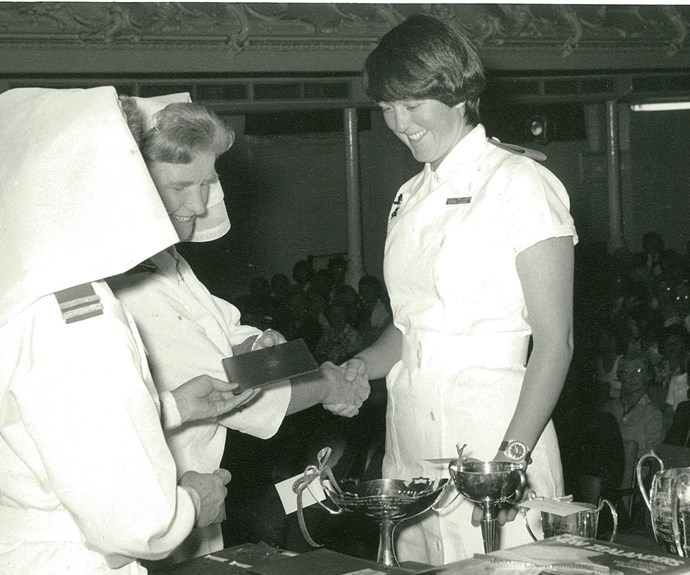 Aged 21, at her nursing graduation at Auckland Hospital in 1976.