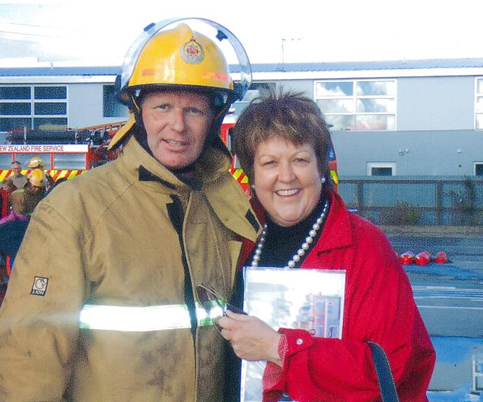 The couple circa 2005 after Ross received his volunteer fireman's training
