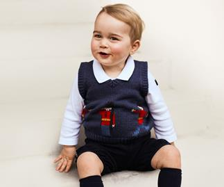 Prince George in his handsome vest.