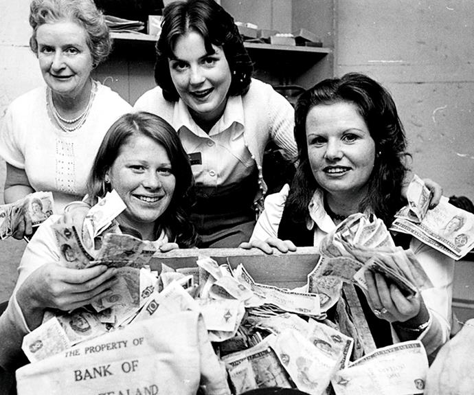 1975 telethon cash counters.