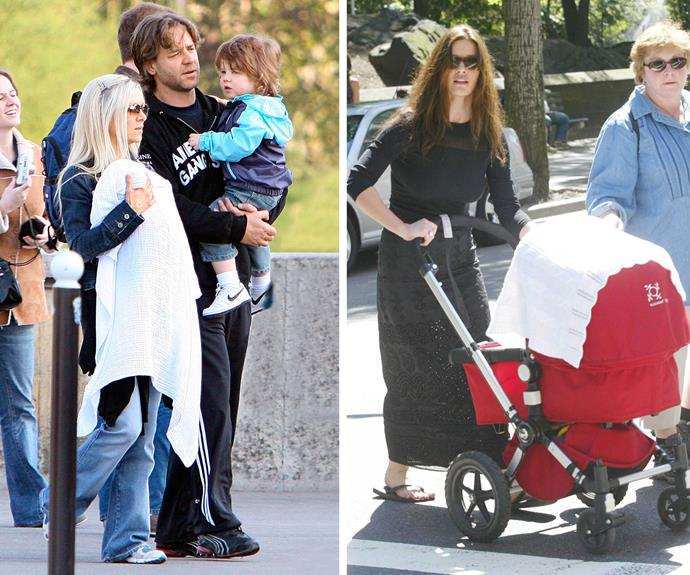 From left to right: Dorothy looked after Russell Crowe and Danielle Spencer's eldest son, Charlie. With employer Catherine Zeta-Jones.