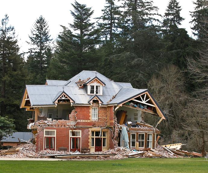 The historic Deans family homestead located near Darfield was a casualty of the September quake.