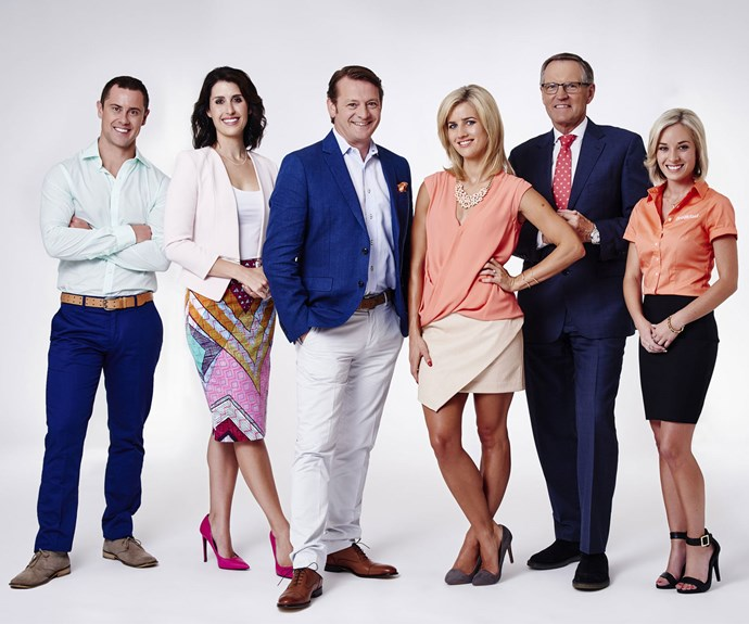 The Breakfast team (from left): Sam Wallace, Nadine, Rawdon Christie, Ali Pugh, Peter Williams and Selena Hawkins, is just like a family.