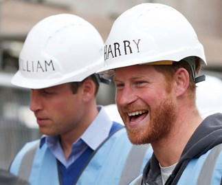 Prince Harry and Prince William Manchester DIY SOS team