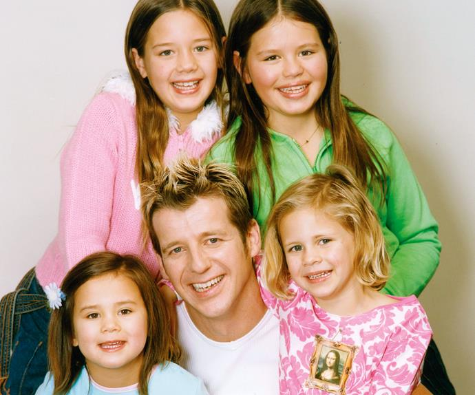 Simon Barnett and daughters