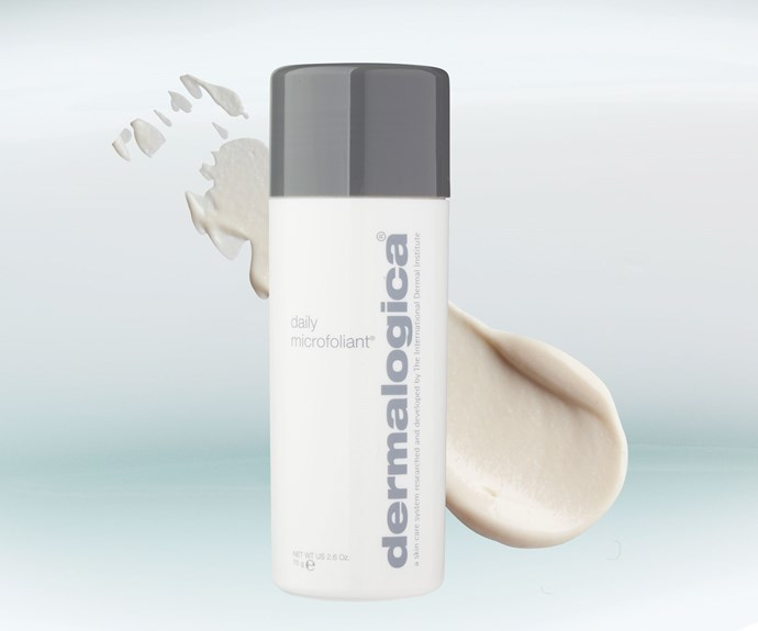 **Dermalogica Daily Microfoliant, $96.** This loose powder is a cult product. To see why, add a small amount of water to create a paste and use in small circular motions over your entire face, avoiding the eye area.