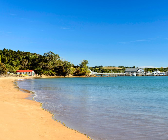 Walks along white sandy beaches at Paihia are perfect in any season.