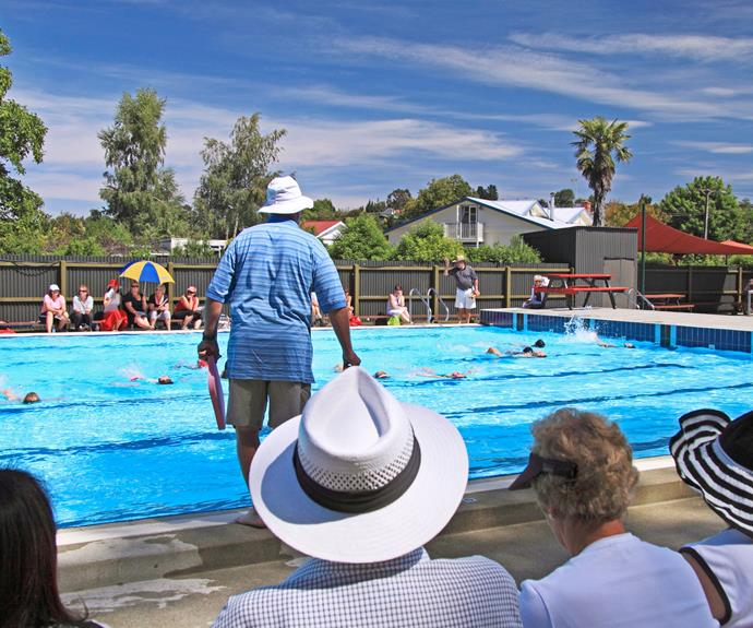 School swimming sports at Geraldine pool.