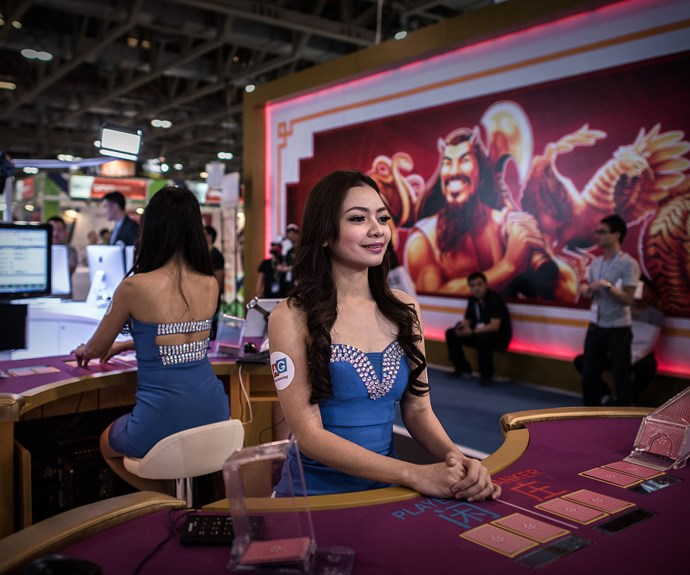 Global Gaming Expo Asia, held this May in the gambling mecca of Macau, where it's estimated $US202 billion of dirty money is washed every year.