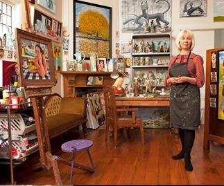 Premier Portage Award winner Lousie Rive's unique work space