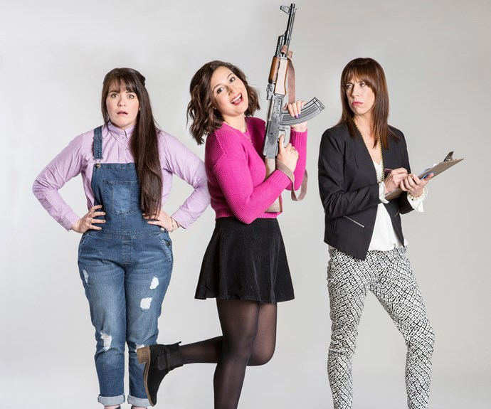 Funny Girls' Laura Daniel, Rose Matafeo and van Beek.