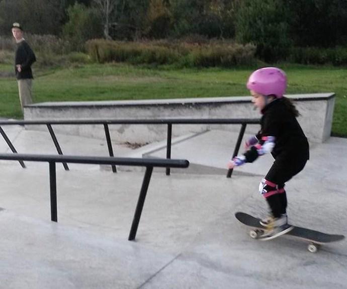 Dear teenage boy at the skate park