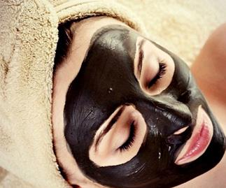 Charcoal facial and face peel