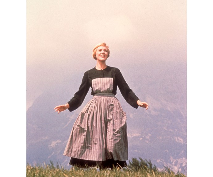 Julie Andrews as Maria von Trapp in The Sound of Music, one of the most successful films ever.