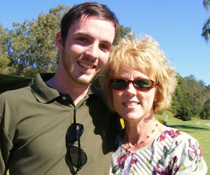 Lucy Haslam with her son, Dan, who was diagnosed with bowel cancer at the age of 21, but sadly passed away this year.