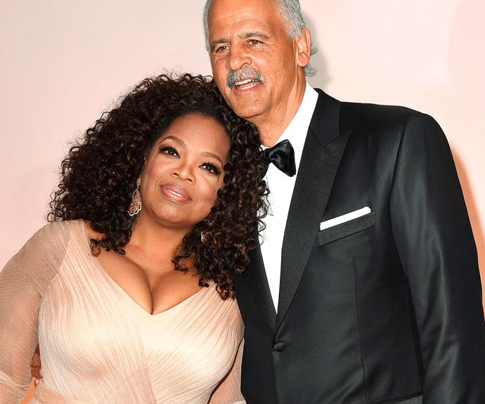 """Oprah says her partner of almost 30 years, Stedman Graham, is """"steady as a rock""""."""