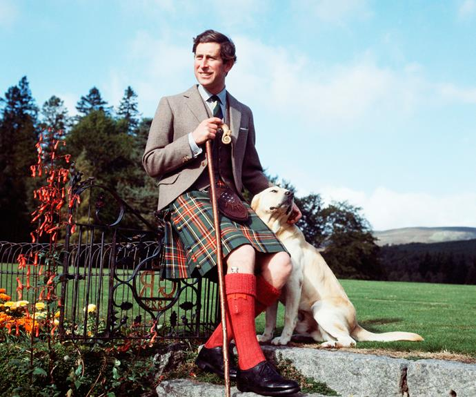Prince Charles is also a fan of Labradors. He was pictured with his dog Harvey on the grounds of Balmoral Castle on his 30th birthday in 1978.