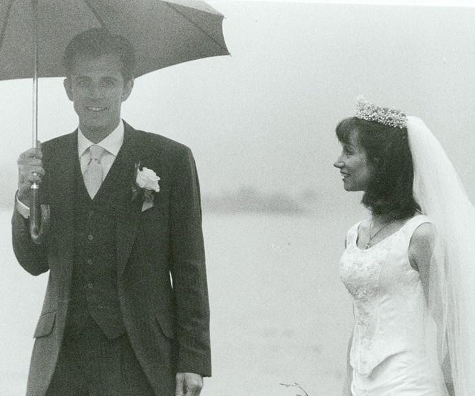 Rain didn't dampen Dan and Helen's wedding when they married in Ireland 15 years ago.