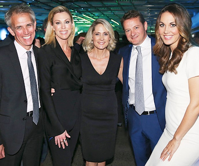 Dan with his TVNZ pals (from left), Wendy Petrie, Karen Olsen, Rawdon Christie and Renee Wright.