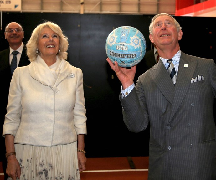 Charles and Camilla at the Milenium Institute of Sports in 2012.