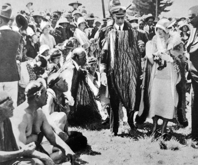 One from the archives: The Duke and Duchess of York (later King George V & Queen Elizabeth) attend a Maori ceremony in 1927.