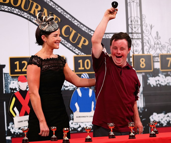 Stevie picks his sister's barrier for the Melbourne Cup.