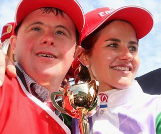 Melbourne Cup winner Michelle Payne with her brother Steven Payne