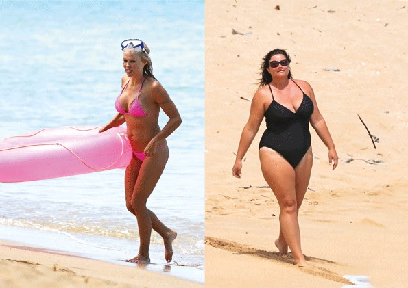 Keely Shaye Smith and Pamela Anderson's beach bodies