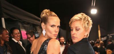 Ellen DeGeneres and Heidi Klum at the People's Choice Awards
