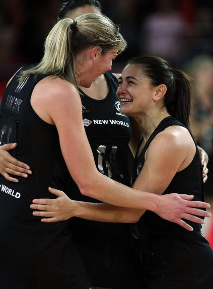 Irene van Dyk and Temepara George Silver Ferns