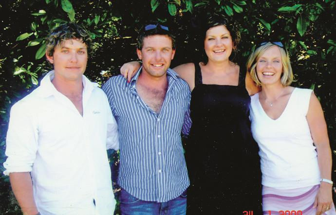 Happier days for the Guy siblings (from left): Callum, Scott, Nikki and Anna.