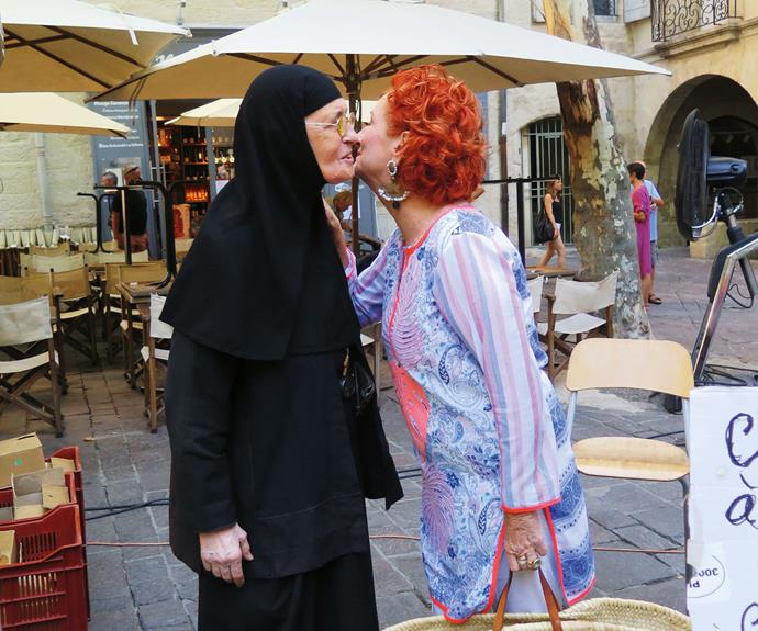 Sister Ambrosia is one of Peta's favourite stallholders in the market and now a good friend.