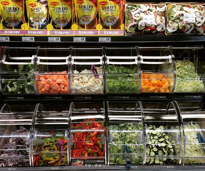 New World pre-chopped vegetables