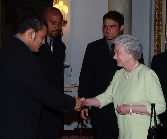 Jonah was a regular at the Palace, pictured here alongside the Queen.