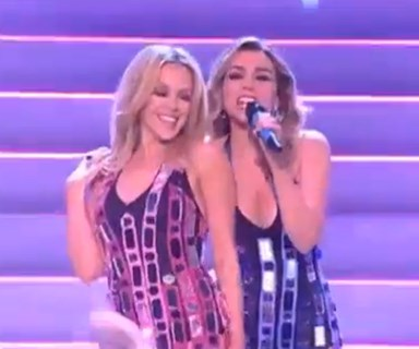 Disco divas Kylie & Dannii Minogue reunite