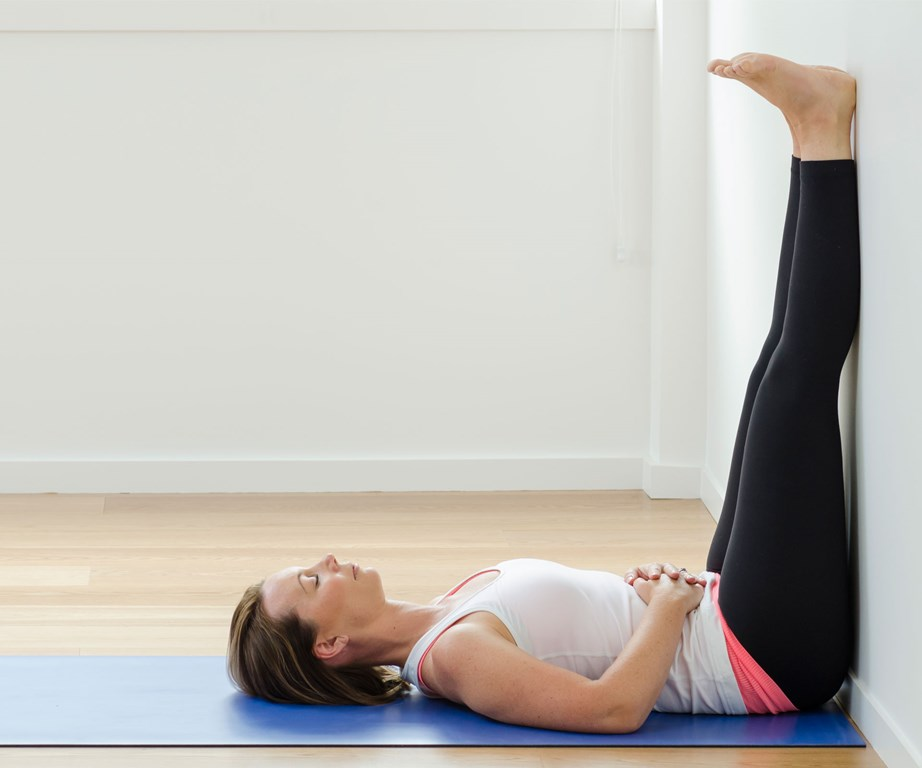 This calming pose is also said to be a cure for restless leg syndrome, relieves swelling and pain in the legs and feet.