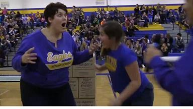 Mum sinks miracle shot to win daughter free tuition