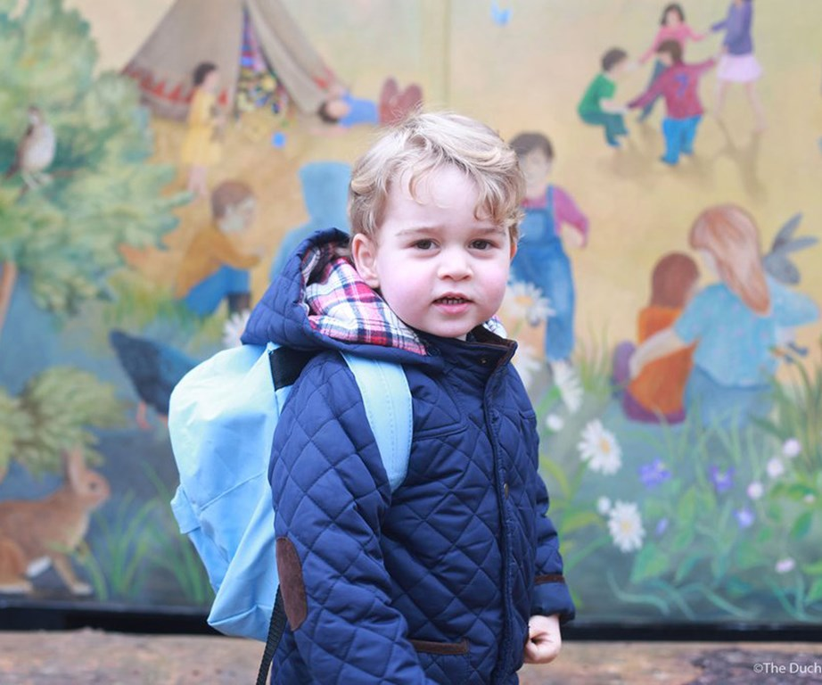 Prince George on his first day of nursery in January 2016.