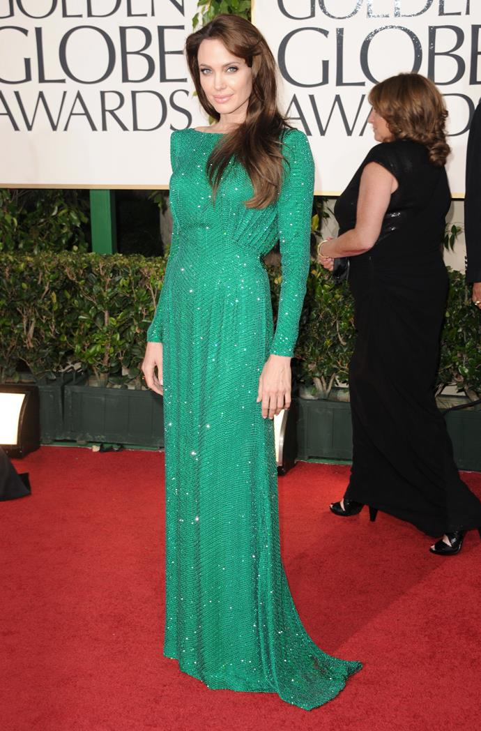 Angelina Jolie stunned at the 2011 Golden Globe Awards.