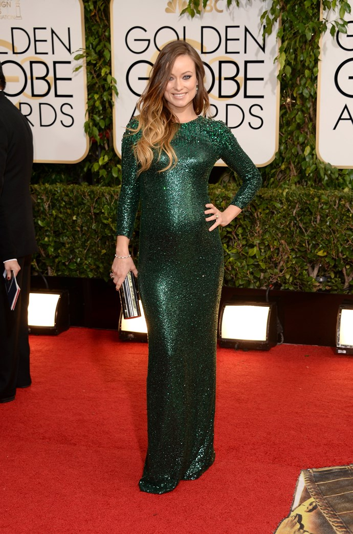 Olivia Wilde didn't let her pregnancy stop her from attending the 2014 awards ceremony and red carpet. Stunning!