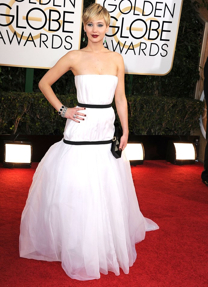 2014 was the year Jennifer Lawrence won the Golden Globe for Best Supporting Actress, and wore this much talked-about dress.